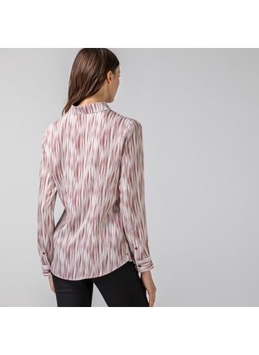 Lacoste Kadın Desenli Gömlek CF0121.21R Bordo